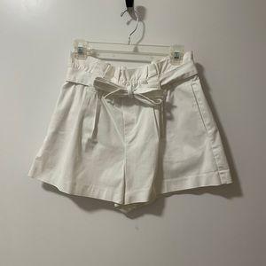 Zara TRF White Belted Short